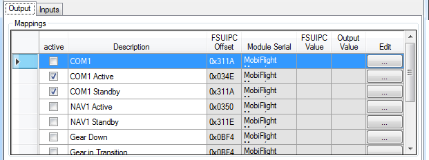 Dokumentation Software MobiFlight Connector, FSUIPC